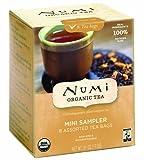 Numi Organic Tea Mini Sampler, Assorted Tea Bags of Traditional Organic Blends, 8 Count Box