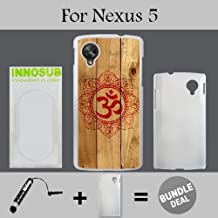 Red Om on Wood Custom LG Nexus 5 Cases-White-Plastic,Bundle 2in1 Comes with Custom Case/Universal Stylus Pen by innosub