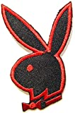Playboy Bunny Sexy Lady Rabbit Patch Iron on Sew Embroidered Applique Logo Badge Sign Symbol Embelm T Shirt Jacket Vest Bag Baseball Cap Decorative Craft