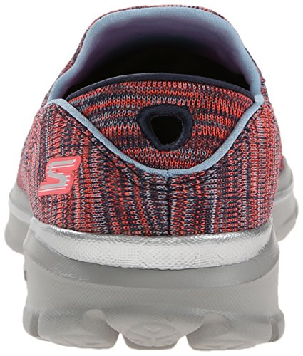 Skechers Performance Womens Go Walk 3 Fitknit Extreme Slip-On Walking Shoe Navy/Coral Exuplv