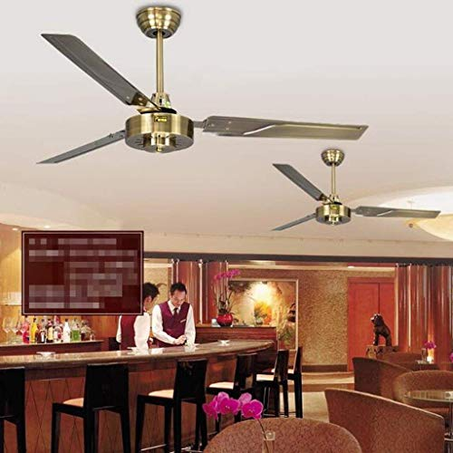 YWGYZ Electric Fan Ceiling Fan 1400 Mm Home Hanging Large Fan Ceiling Fan Hanging Vast Lounge Restaurant Fan Electrical 56 - Gale 5-Speed Setting with Governor,52 Inches,Remote ()