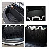 Car Front and Rear Trunk Mat and 3rd Row Seat Back Protector Mat for Tesla Model X 6 seat and 7 seat(4 of Set)