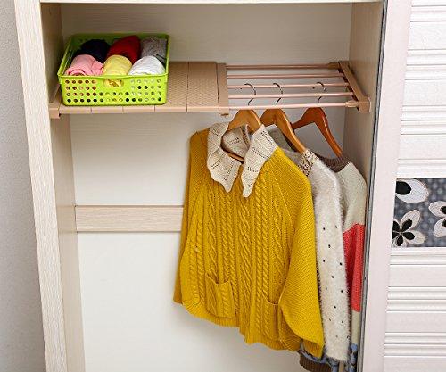 VANCORE Adjustable Storage Rack Separator Wardrobe Cupboard Shelf Coffee (Single Shelf) by VANCORE
