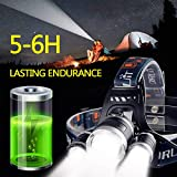 Zingber LED Headlamp Rechargeable, 8000 Lumen