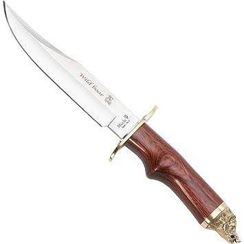 Muela Unisex Plata Talla /única Cuchillo Wildboar para Adultos