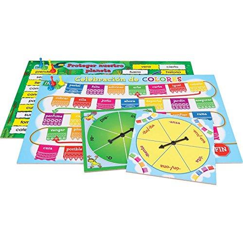 Really Good Stuff Spanish Prefix And Suffix Spin Board Games (Gira el prefijo y el sufijo)