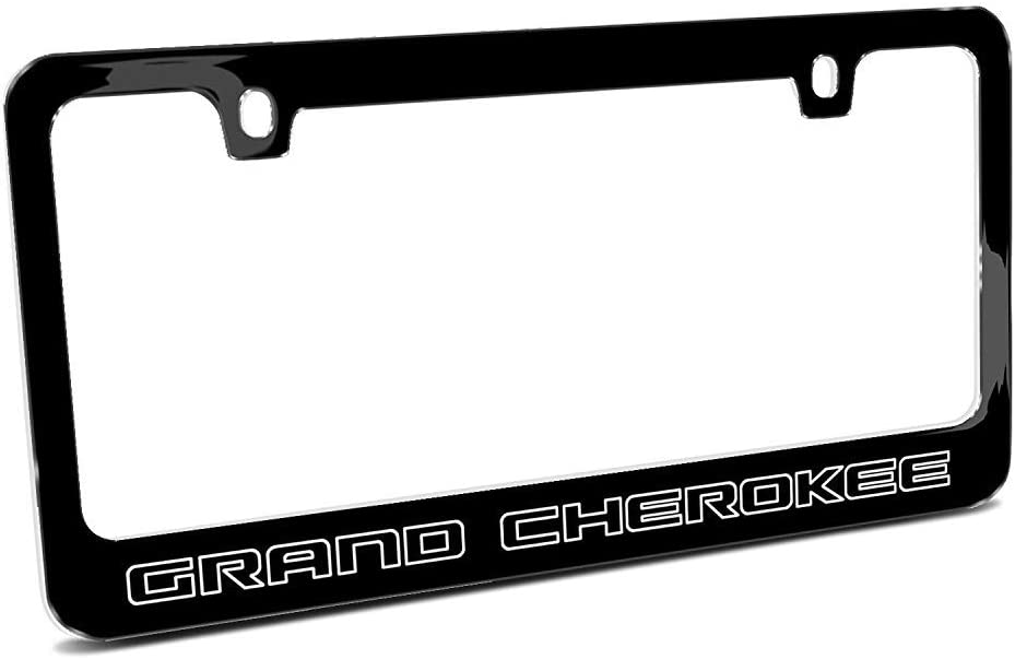 Jeep GRAND CHEROKEE Stainless Steel License Plate Frame Rust Free W// Bolt Caps