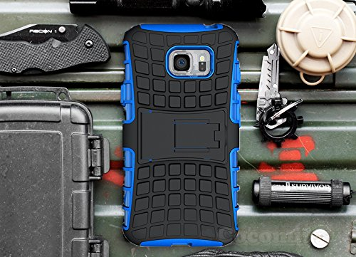 Galaxy S7 Case, Cocomii Grenade Armor NEW [Heavy Duty] Premium Tactical Grip Kickstand Shockproof Hard Bumper Shell [Military Defender] Full Body Dual Layer Rugged Cover Samsung (Blue)
