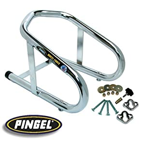 PINGEL 6.5 REMOVABLE CHROME WHEEL CHOCK FOR HARLEY (ZZ 3911-0001)