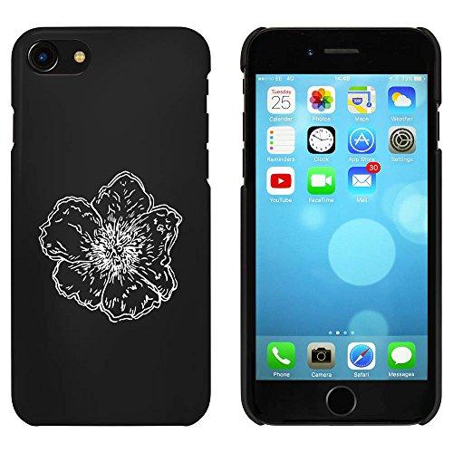 Noir 'Fleur' étui / housse pour iPhone 7 (MC00066027)