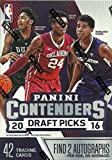 2016 / 2017 Panini Contenders Draft Picks NBA Basketball Series Unopened Blaster Box That Contains 42 Cards including 2 GUARANTEED AUTOGRAPHS per box!! Each box will contain 2 AUTOGRAPHS, 7 Game Day, 7 Collegiate Connections, 7 School Colors,...