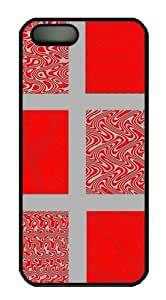 Red and Gray Waves 2 Custom Hardshell Back For HTC One M7 Case Cover -1126092