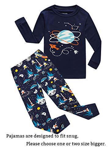 899a94dc330 Family Feeling Space Little Boys Pajamas Sets 100% Cotton Clothes Toddler  Kids