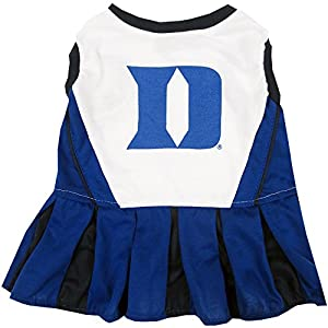 Pets First Collegiate Duke Blue Devils Dog Cheerleader Dress, Medium