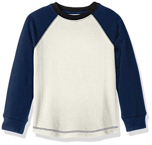 Gymboree Toddler Boys' Long Sleeve Colorblock Waffle Tee, White Color Block, 2T Boys Waffle Knit Tees