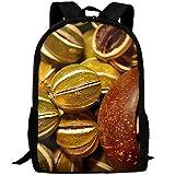 OIlXKV Dried Lemon Print Custom Casual School Bag Backpack Multipurpose Travel Daypack For Adult