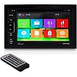 Lanzar SDNV66B 6.5-Inch Video Headunit Receiver GPS Navigation Bluetooth Wireless CD/DVD Player Touch Screen Double DIN