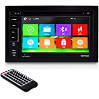 Lanzar SDNV66B 6.5-Inch Video Headunit Receiver GPS Navigation Bluetooth Wireless CD/DVD Player Touch Screen Double DIN