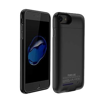 HOTSO 3000mAh Carcasa Batería Funda Magnética, 4,7 Pulgadas Batería Externa Recargable Cargador de Banco Energía de Móvil para iPhone 6/6s/7/8 (Negro)