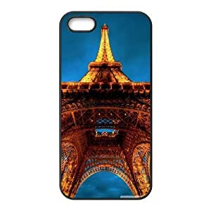 For Iphone 5/5S Phone Case Cover Paris At Night Eiffel Tower View From Below Protective Cute For Girls, For Iphone 5/5S Phone Case Cover Protective Cute For Girls [Black]