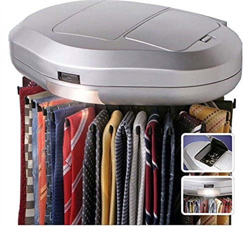 Generic Tie Belt Necktie rotates Revolving 30 PCS Hanger hang Organizer Closet Mounted Rack Holder With LED
