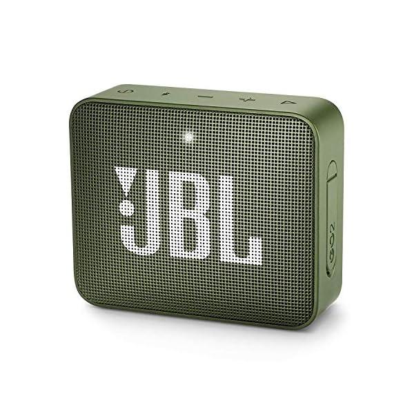 JBL Go 2 - Mini enceinte Bluetooth Portable - Étanche pour Piscine & Plage Ipx7 - Autonomie 5hrs - Qualité Audio JBL - Vert 1
