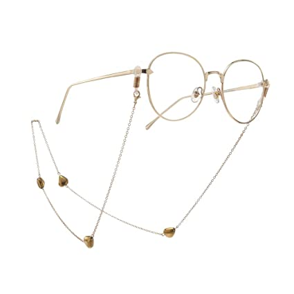 Cadena para Gafas de Sol Golden Fashion Peach Heart Gafas de ...