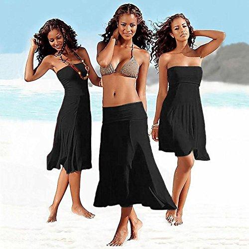 SHISHANG playa de las mujeres de la falda Europa y los Estados Unidos fue el verano delgada nuevo envuelta en el pecho falda de la playa del pecho del sujetador tendencia más desgaste francesa Varieda Black