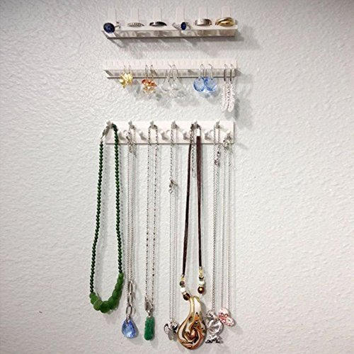 Wall Mount - Adhesive Jewelry Earring Necklace Hanger Organizer Holder Packaging Display Rack Sticky Hooks Wall - Strip Dryer Enclosure Document Dual Door Corner Hair Bars Sign Keyboard Home Comp (Enclosure Door Glass Fireplace)