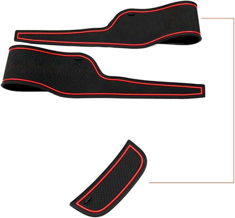 8 Pcs Car Door Groove Pads Non-Slip Door Groove Pad Dustproof Car Interior Mat Washable Gate Slot Cushions For Ford Fiesta 2009-2014
