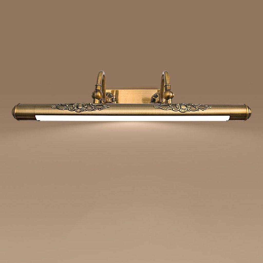ミラーライト、LEDドレッサー寝室洗面所浴室ドレッサー合金銅素材ブラウン11W60 * 22 * 11センチメートル B07B4PJH6Y