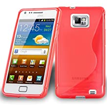 Cadorabo – Silicone Case S-LINE SLIM-FLEX for Samsung Galaxy S2 (I9100) – Etui Cover Protection Bumper Skin in CANDY-APPLE-RED