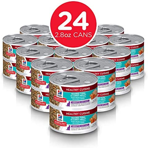 Hill s Science Diet Canned Wet Cat Food, for Senior Cats, Healthy Cuisine, 2.8 oz, 24-Pack