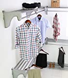 walk in closet design EZ Shelf - DIY Walk-in Closet Kit - Expandable to 30.8 ft Hanging & Shelf Space - NO CUTTING - Silver