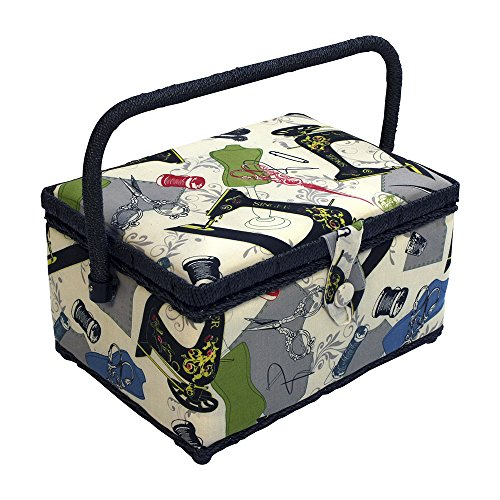 Singer Vintage Sewing Basket with Sewing Kit Accessories 07281 (Cushion Basket compare prices)