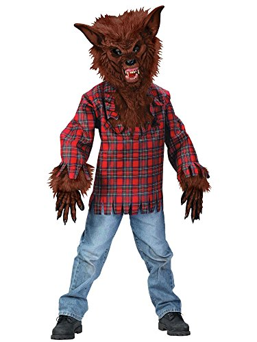 Werewolf Kids Costumes (Werewolf Child Costume Brown - Medium)