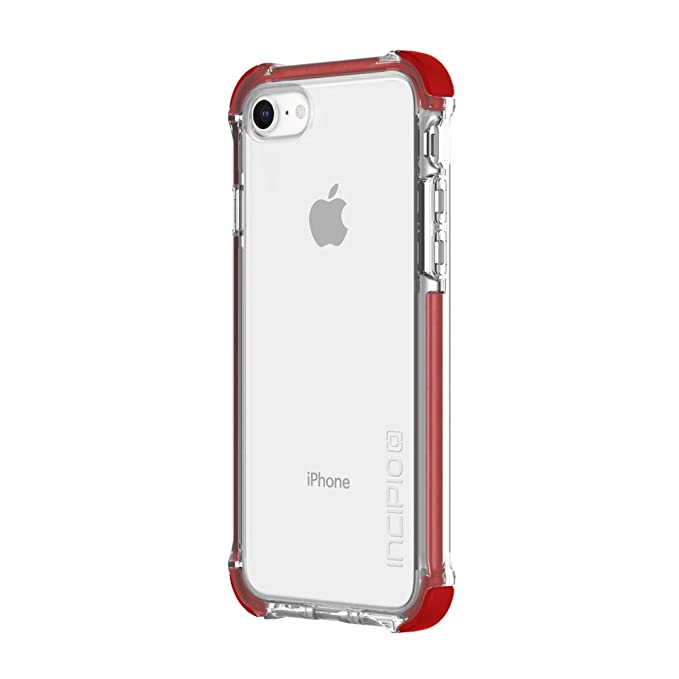 the best attitude 84130 8f926 Incipio Reprieve [Sport] iPhone 8 Case with Reinforced Shock-Absorbing  Corners for iPhone 8 - Red/Clear