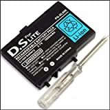 replacement battery for nintendo DS lite nds lite battery, rechargeable Ds lite 2000mAh Includes Screwdriver