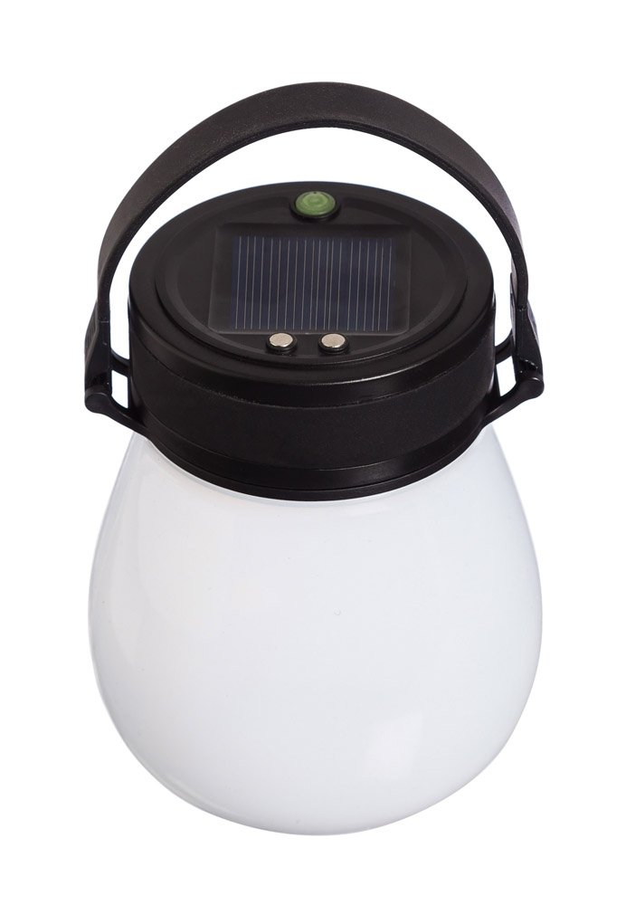 Firefly Frosted White Bell-Shaped Indestructible Silicone Solar Powered LED Emergency Power Light with Water-Tight Twist Top