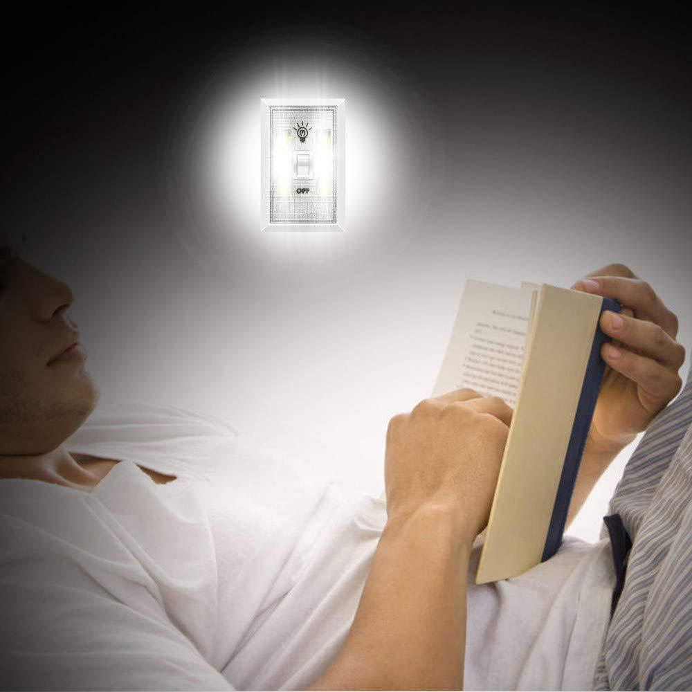 LED Night Light, Kasonic 200 Lumen Cordless COB LED Light Switch Battery Include