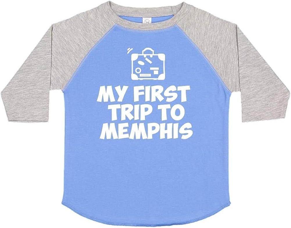Toddler//Kids Raglan T-Shirt My First Trip to Memphis