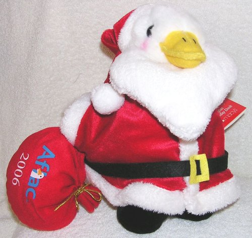 2006-christmas-large-10-plush-talking-aflac-holiday-duck-as-santa-claus-from-macys