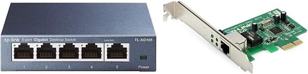 Tp Link Tl Sg105 5 Port Gigabit Netzwerk Switch Blau Computer Zubehör