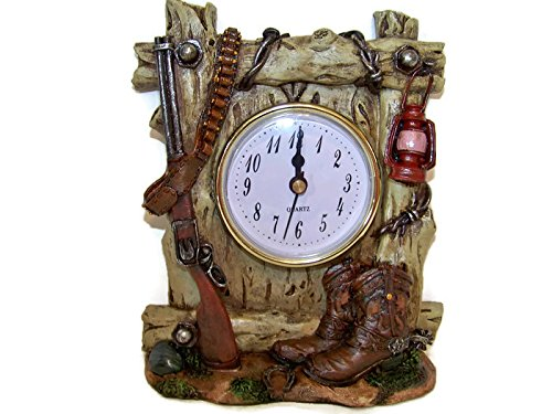 6 Inch Western Clock with Rifle, Boots, Bullets, and - Bullet Wall Lamps
