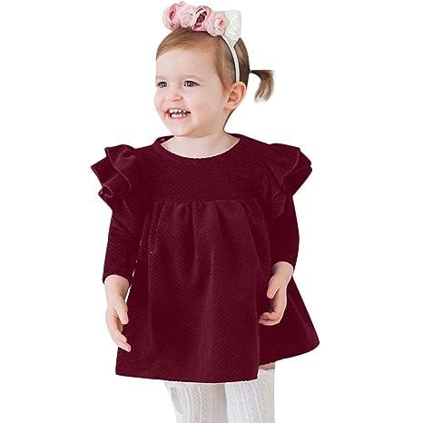 ca4b26633 Fineser Baby Girl Clothes Baby Girl Dress, Lovely Autumn Winter Infant  Toddler Baby Girls Age