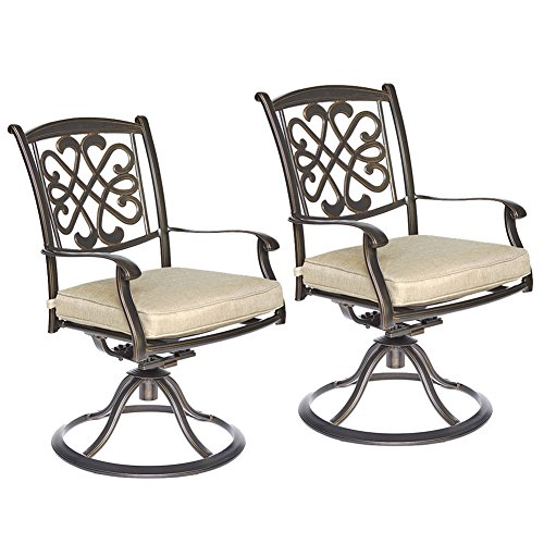 dali Patio Glider chairs, Garden Backyard Chairs Outdoor Patio Furniture 2 Pcs Sets (Cast Aluminum Swivel Rocking Chair)
