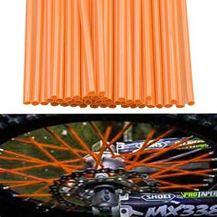 Blue 72pcs//lot Spoke Skins Covers,ECLEAR Universal Motocross Dirt Bike MX Enduro Off Road Wheel Rim Spoke Wraps Shrouds Skins Covers