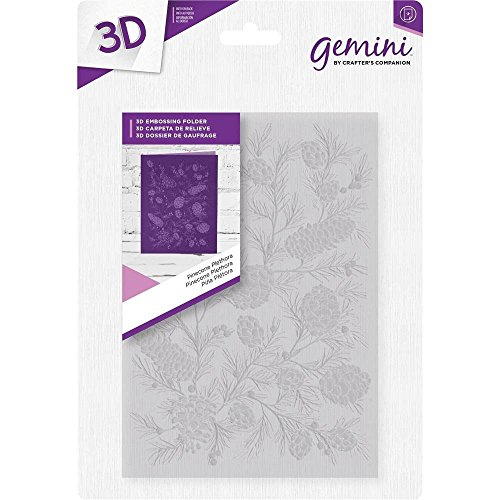 Crafter's Companion 5'' x 7'' 3D Card Embossing Folder - Pinecone Plethora by Gemini