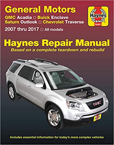 Books Automotive 08-17 General Motors GMC Acadia 07-16 07-10 Buick ...