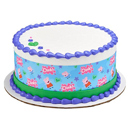 Peppa Pig - Pepps and George Licensed Edible Cake Strips #21858